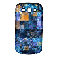 Blue Squares Abstract Background Of Blue And Purple Squares Samsung Galaxy S Iii Classic Hardshell Case (pc+silicone)