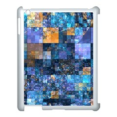 Blue Squares Abstract Background Of Blue And Purple Squares Apple Ipad 3/4 Case (white) by Nexatart