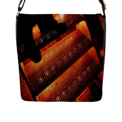 Magic Steps Stair With Light In The Dark Flap Messenger Bag (l)  by Nexatart
