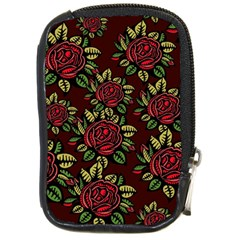 A Red Rose Tiling Pattern Compact Camera Cases