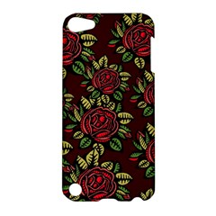 A Red Rose Tiling Pattern Apple Ipod Touch 5 Hardshell Case by Nexatart