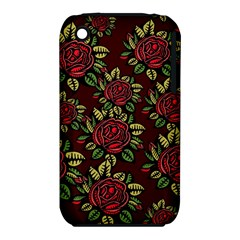 A Red Rose Tiling Pattern Iphone 3s/3gs by Nexatart
