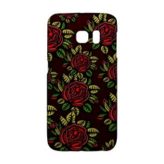A Red Rose Tiling Pattern Galaxy S6 Edge