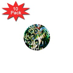 Dark Abstract Bubbles 1  Mini Buttons (10 Pack)  by Nexatart