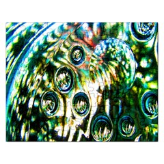 Dark Abstract Bubbles Rectangular Jigsaw Puzzl