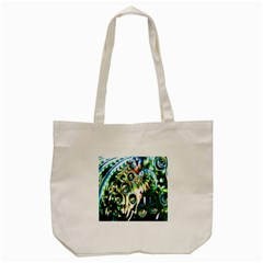 Dark Abstract Bubbles Tote Bag (cream) by Nexatart