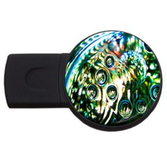 Dark Abstract Bubbles Usb Flash Drive Round (4 Gb) by Nexatart