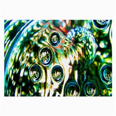 Dark Abstract Bubbles Large Glasses Cloth by Nexatart