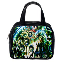 Dark Abstract Bubbles Classic Handbags (one Side) by Nexatart