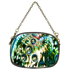 Dark Abstract Bubbles Chain Purses (one Side)  by Nexatart