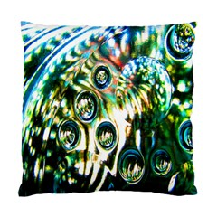 Dark Abstract Bubbles Standard Cushion Case (one Side) by Nexatart