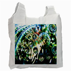 Dark Abstract Bubbles Recycle Bag (two Side)