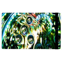 Dark Abstract Bubbles Apple Ipad 3/4 Flip Case by Nexatart