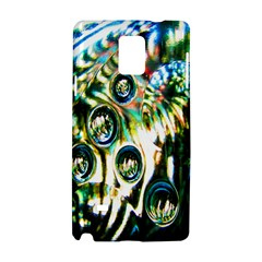 Dark Abstract Bubbles Samsung Galaxy Note 4 Hardshell Case by Nexatart