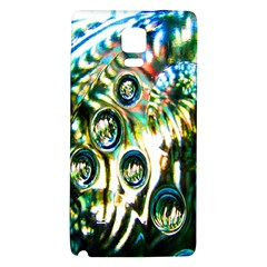 Dark Abstract Bubbles Galaxy Note 4 Back Case by Nexatart