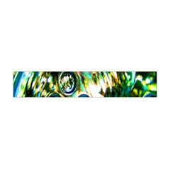 Dark Abstract Bubbles Flano Scarf (mini) by Nexatart