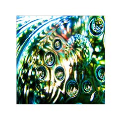Dark Abstract Bubbles Small Satin Scarf (square) by Nexatart