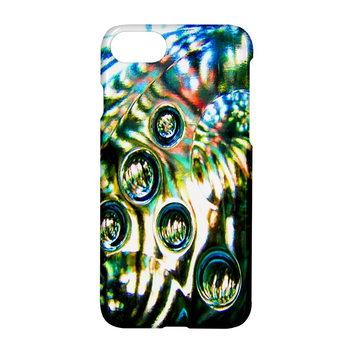 Dark Abstract Bubbles Apple iPhone 7 Hardshell Case