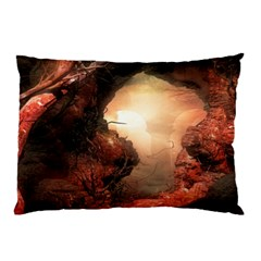 3d Illustration Of A Mysterious Place Pillow Case by Nexatart