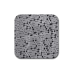 Metal Background With Round Holes Rubber Square Coaster (4 Pack)