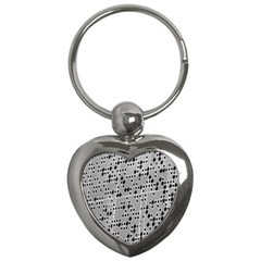 Metal Background With Round Holes Key Chains (heart)  by Nexatart