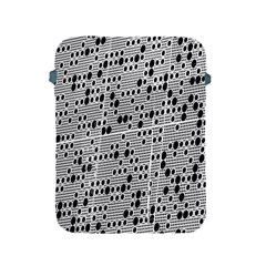 Metal Background With Round Holes Apple Ipad 2/3/4 Protective Soft Cases