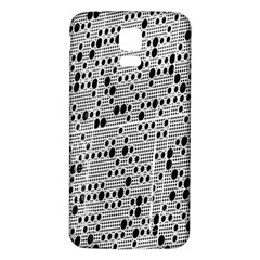 Metal Background With Round Holes Samsung Galaxy S5 Back Case (white)