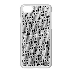 Metal Background With Round Holes Apple Iphone 7 Seamless Case (white) by Nexatart
