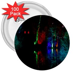 Illuminated Trees At Night Near Lake 3  Buttons (100 Pack)
