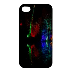 Illuminated Trees At Night Near Lake Apple Iphone 4/4s Premium Hardshell Case