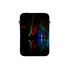 Illuminated Trees At Night Near Lake Apple Ipad Mini Protective Soft Cases by Nexatart