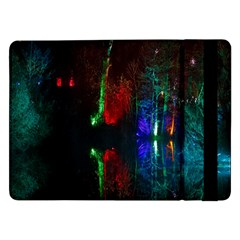Illuminated Trees At Night Near Lake Samsung Galaxy Tab Pro 12 2  Flip Case