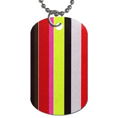 Stripe Background Dog Tag (two Sides) by Nexatart