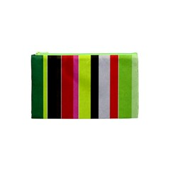 Stripe Background Cosmetic Bag (xs) by Nexatart