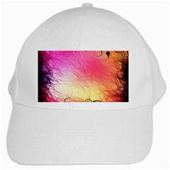 Floral Frame Surrealistic White Cap by Nexatart