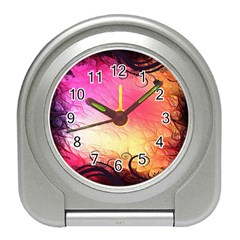 Floral Frame Surrealistic Travel Alarm Clocks by Nexatart