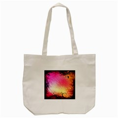 Floral Frame Surrealistic Tote Bag (cream) by Nexatart