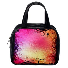 Floral Frame Surrealistic Classic Handbags (one Side)