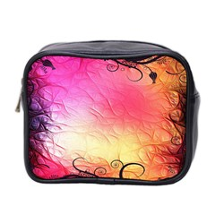 Floral Frame Surrealistic Mini Toiletries Bag 2 Side by Nexatart
