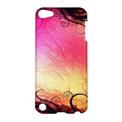 Floral Frame Surrealistic Apple Ipod Touch 5 Hardshell Case by Nexatart