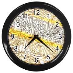 Abstract Composition Digital Processing Wall Clocks (black) by Nexatart