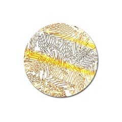 Abstract Composition Digital Processing Magnet 3  (round) by Nexatart