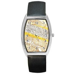 Abstract Composition Digital Processing Barrel Style Metal Watch by Nexatart