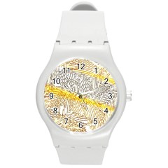 Abstract Composition Digital Processing Round Plastic Sport Watch (m) by Nexatart