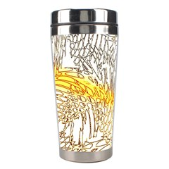 Abstract Composition Digital Processing Stainless Steel Travel Tumblers by Nexatart