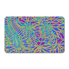 Abstract Floral Background Magnet (rectangular) by Nexatart