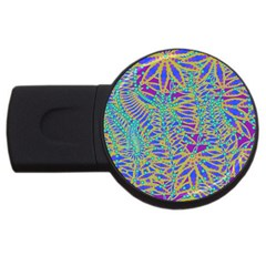 Abstract Floral Background Usb Flash Drive Round (2 Gb) by Nexatart