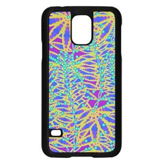 Abstract Floral Background Samsung Galaxy S5 Case (black) by Nexatart