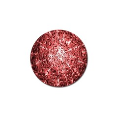 Water Drops Red Golf Ball Marker (4 Pack) by Nexatart