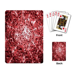 Water Drops Red Playing Card by Nexatart